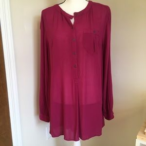 Free People oversized long woven top